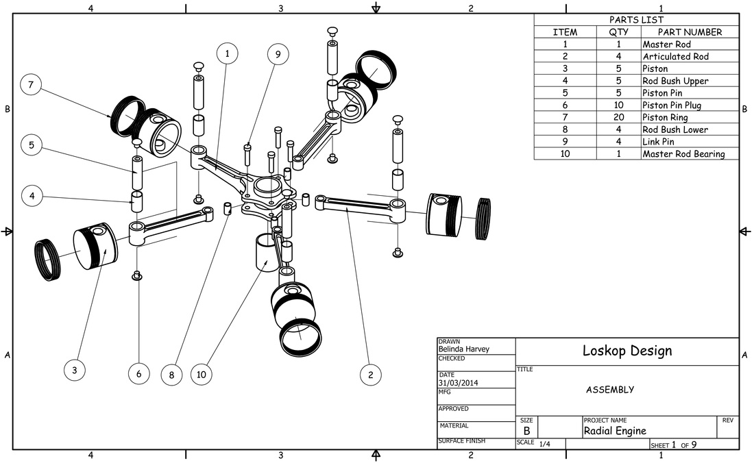 radial engine parts diagram